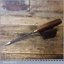 """Vintage H. Taylor 1/4"""" Straight Wood Carving Chisel Double Bevel Rosewood Handle - Sharpened"""