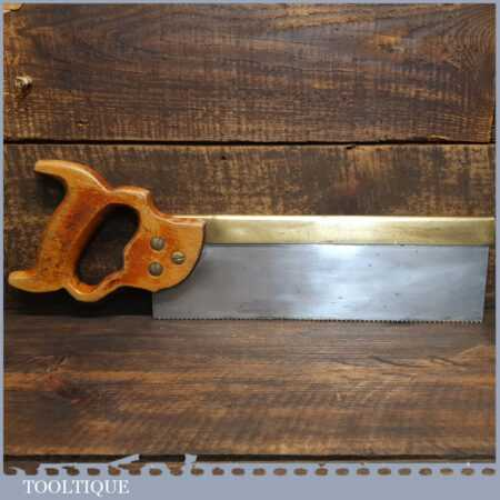 "Vintage 12"" W Tyzack & Turner No: 120 Brass Back Tenon Saw 12 Tpi - Sharpened Fully Refurbished"