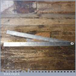 Vintage Chesterman No: 235M Metric & Imperial Folding Steel Ruler - Good Condition
