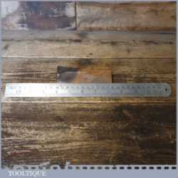 """Vintage 12"""" Chesterman No: 1486D Metric & Imperial Contraction Steel Ruler - Good Condition"""