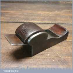"Large 5"" Antique Steel Chariot Infill Plane With Mahogany Wedge - Good Condition"