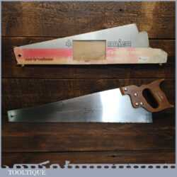 "Vintage Baier Germany 22"" Masterpiece Cross Cut Panel Handsaw - Fully Refurbished Sharpened"