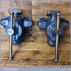 Vintage Pair Of Record No: 153 Floorboard Clamps - Good Condition Ready For Use