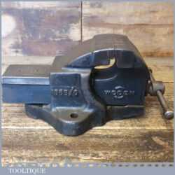 """Vintage Woden No: 186B/O Engineer's Cast Steel Bench Vice 2 ½"""" jaws - Good Condition"""