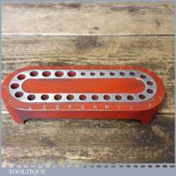 Vintage Engineers Imperial Alloy Bit Stand For Holding Alphabetically Coded Bits
