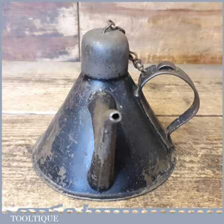 Rare Unusual Vintage Kayes Conical Shaped Oil Can Or Oiler