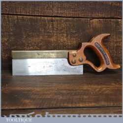 "Vintage Spear & Jackson Leap Frog 8"" Brass Back Dovetail Saw 20 Tpi - Sharpened Refurbished"
