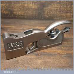 Vintage Record No: 073 Adjustable Throat Shoulder Plane - Fully Refurbished