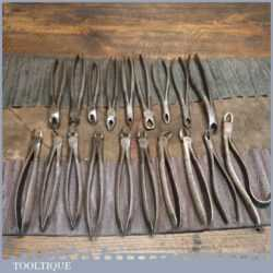 Rare Antique Collection 19 Late Victorian Dentist's Forceps - Various Makers 1870-1901