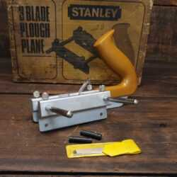 Boxed Stanley England No: 13/030 Plough Plane Complete- Fully Refurbished