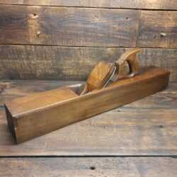 "Nice Vintage Carpenter's 25"" Extra-Long Beechwood Trying Plane - Lapped flat"
