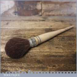Vintage No:16 Beechwood Handled Vulka Set Squirrel Artist's Sash Brush - Unused
