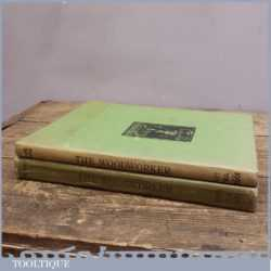 Two Volumes Of Books Called The Woodworker 1935 - 1952