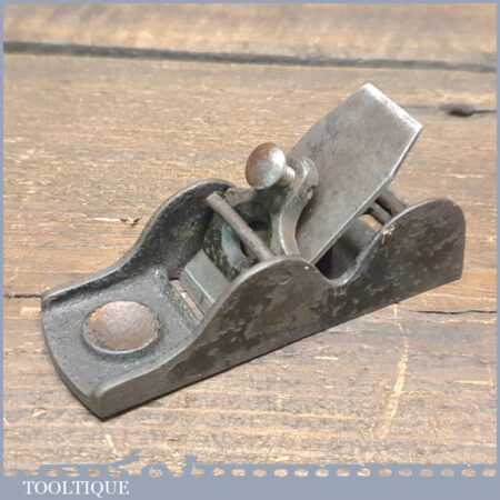 """Antique Miniature 3 ½"""" Duplex Thumb Plane - Fully Refurbished Ready To Use"""