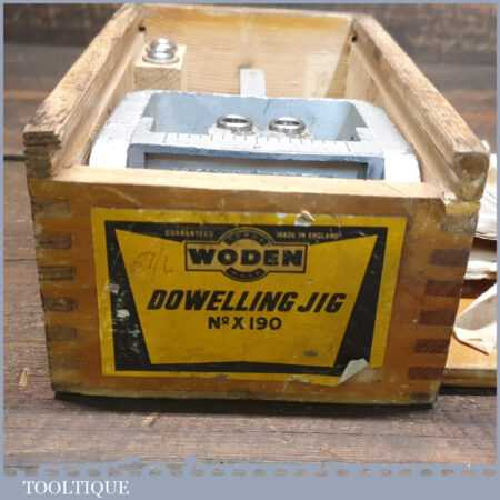 Vintage Woden X190 Dowelling Jig In Original Wooden Box - Good Condition