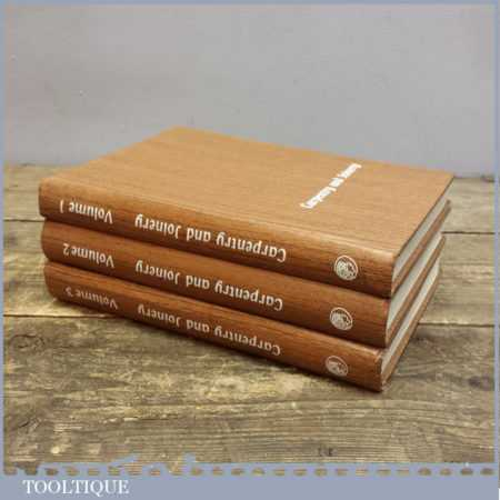 Three Vintage Woodworking Books By Alfred E Bridgwood