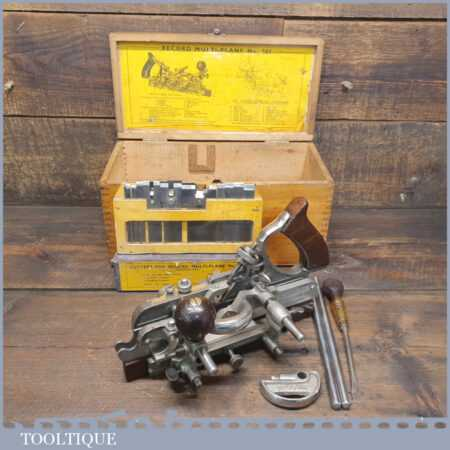 Vintage Boxed Record No: 405 Combination Plough Plane - Fully Refurbished