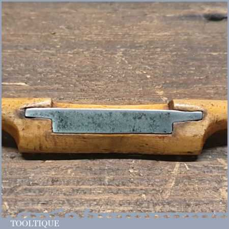 """Vintage Keylock Bros Boxwood Spokeshave With 1 ½"""" Cutter - Good Condition"""
