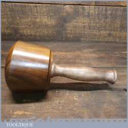 Handmade Wood Turned Reclaimed Old Lignum Vitae Mallet - London Plane Handle