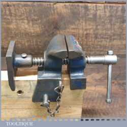 Unusual Vintage Vice Sash Clamp Head Mounted On Wood To Fit Bench Vice
