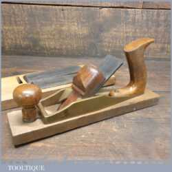 Vintage Pattern Maker's Brass Hollowing Plane Beechwood Infill - Good Condition