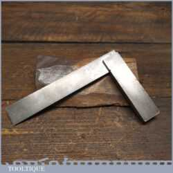 """Vintage No: 400 Moore & Wright 4 ¼"""" Cast Steel Try Square - Good Condition"""