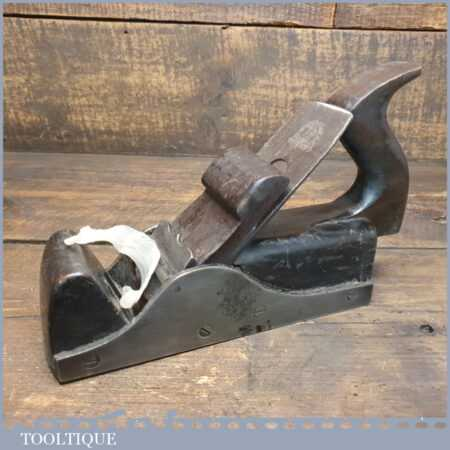 Antique Foundry Cast Steel Infill Smoothing Block Plane - Rosewood Wedge