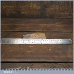 "Vintage 12"" Chesterman No: 1486D Double Sided Metric & Imperial Contraction Ruler 1/60 & 1/120"