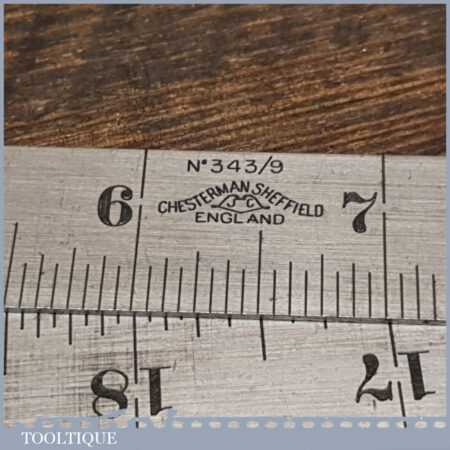 Rare Vintage Set 6 No: Chesterman 2ft Folding Imperial Contraction Steel Rulers - Little Used