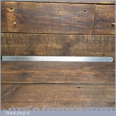 """Vintage 24"""" J Rabone No: 142 Imperial Double Sided ½"""" To Foot Contraction Ruler"""