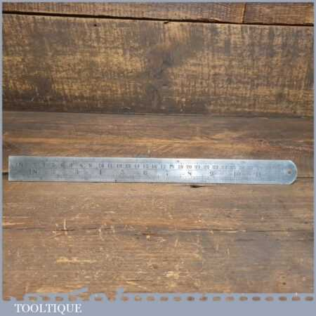 """Vintage 12"""" Chesterman No: 1494D Metric Imperial Contraction Ruler 1/40 & 1/30"""