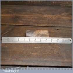 "Vintage 12"" Chesterman No: 612D Imperial Contraction Ruler 1/60 – 1/120"