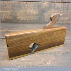 "Rare Antique ¾"" Solid Rosewood Rabbet Plane With Beechwood Wedge"