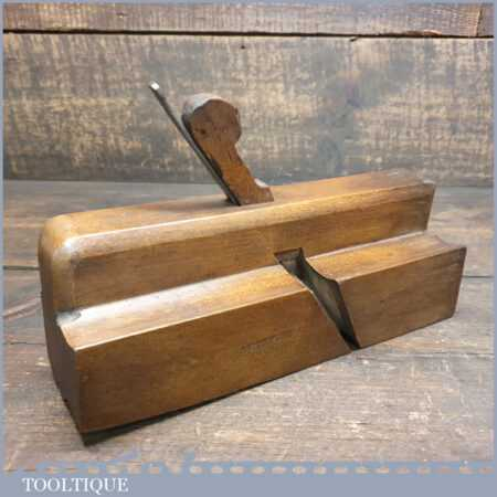 Antique Stokoe 1817-1840 Quirk Ogee Beechwood Moulding Plane