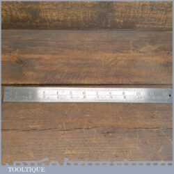 """Vintage 12"""" Chesterman No: 320D (1/60 & 1/120) Imperial Contraction Steel Ruler"""