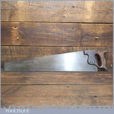 """Antique 24"""" Rip Saw With 3 ½ TPI - Fully Refurbished Sharpened"""