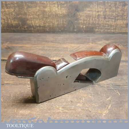Vintage Cast Steel Shoulder Plane Mahogany Infill & Wedge - Ready To Use
