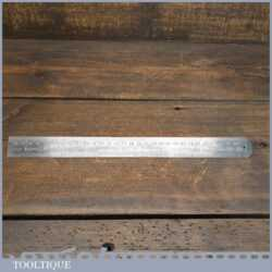 Vintage Chesterman No: 1486 Metric & Imperial Contraction Steel Ruler 1/60 + 1/120