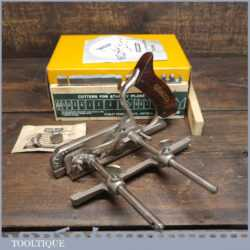 Vintage Boxed Stanley England No: 50 Combination Plough Plane - Fully Refurbished