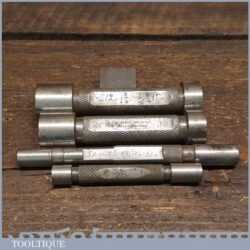 4 No: Vintage Engineers Imperial Bore Gauge Measuring Tools