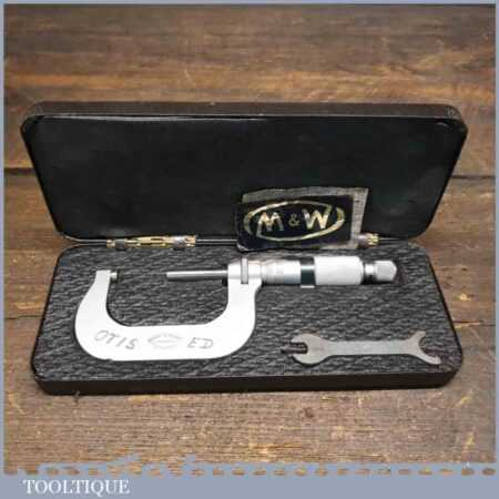 Vintage Boxed No: 961M Moore & Wright 25-50 Metric Micrometer - Good Condition
