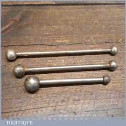 3 Vintage Patternmakers Wax Fillet Rubber Tools - Various Sizes