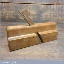 Antique John Moseley Quirk Ogee & Astragal Beechwood Moulding Plane - Good Condition