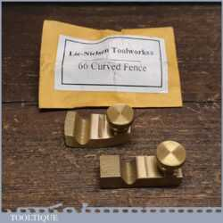 Unused Lie-Nielsen Curved And Straight Fences For A 66 Bronze Beading Plane