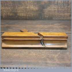 Antique Skew Bead Beechwood Moulding Plane Known As Rounding Plane