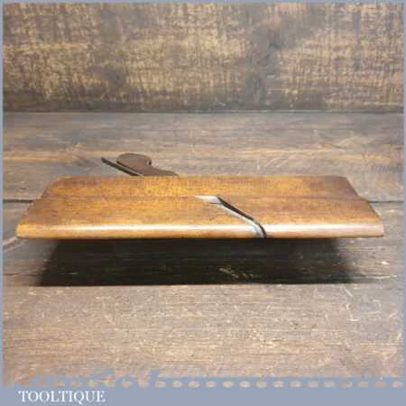 Antique 18th C John Rogers Westminster (1734-1765) Side Round Beechwood Moulding Plane