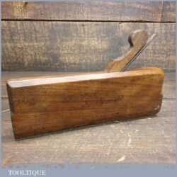 Antique 18th Century I. Sym 1753-1802 No: 17 Hollow Beechwood Moulding Plane