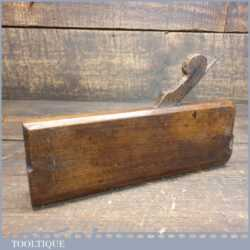Antique 18th C Thomas Okines 1740-1834 No: 16 Hollow Beechwood Moulding Plane
