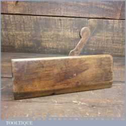 """T22469 - Antique 18th century B. Frogatt (1765-1790) ¼"""" round beechwood moulding plane in good used condition"""