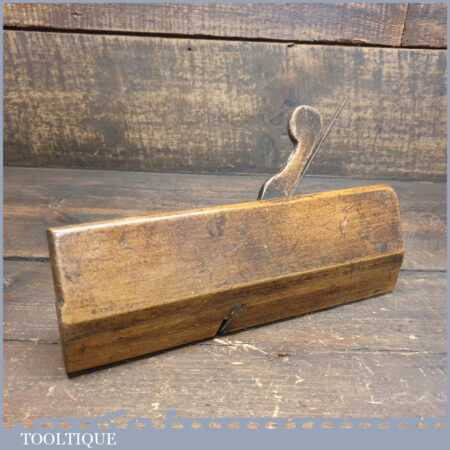 Antique I. Cox No: 6 Round Beechwood Moulding Plane - Good Condition